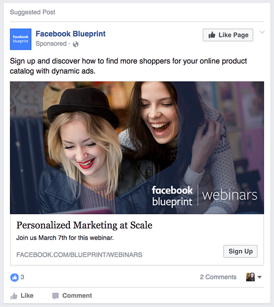 Facebook Lead Ad 1